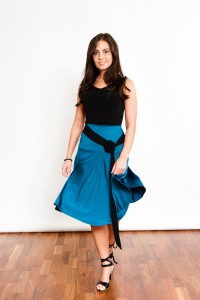 Tango Clothing, Dresses & Fashion Made in the UK | Essential Skirt by Tanguito | Insolent Blue Front