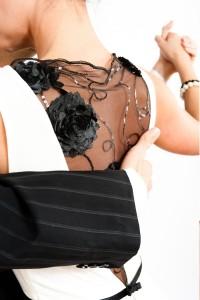 Tango Clothing, Dresses & Fashion | Twist & Twirl Dress | Black and White Back Close up