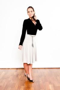 Tango Clothing, Dresses & Fashion | Velvet Wrapover | Black picture
