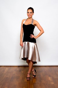 Tango Clothing, Dresses & Fashion made in the UK | Satin Glamour Dress | Picture Stone