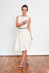 Tango Clothing, Dresses & Fashion | Twist and twirl dress | White | Front Picture