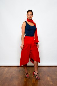 Argentine Tango Clothing, Dresses & Fashion made in the UK | Pleated Trousers | Front Picture
