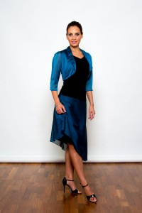 Argentine Tango Clothing, Dresses & Fashion made in the UK | Femme Fatale Skirt | Front picture