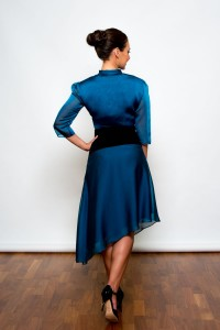 Argentine Tango Clothing, Dresses & Fashion made in the UK | Femme Fatale Skirt | Back picture