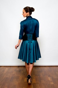 Argentine Tango Clothing, Dresses & Fashion Made in the UK | Glamour Skirt | Back Picture