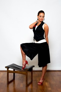 Argentine Tango Clothing, Dresses & Fashion Made in the UK | Romantic Trousers | Front Picture