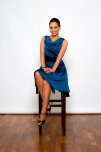 Argentine Tango Clothing, Dresses & Fashion made in the UK | Muñequita Cowl Dress | Front Picture