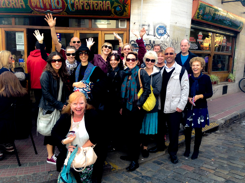 Group photo at San Telmo market. Day 2 of the holidays