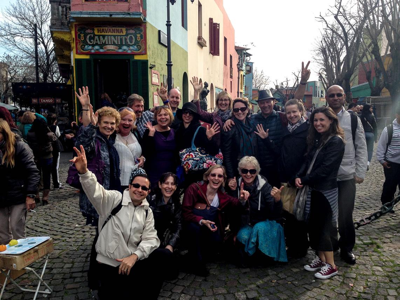 Us at Caminito! Can't get enough group photos!