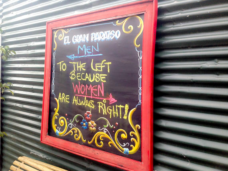 You bet! :-) Funny toilet sign in La Boca