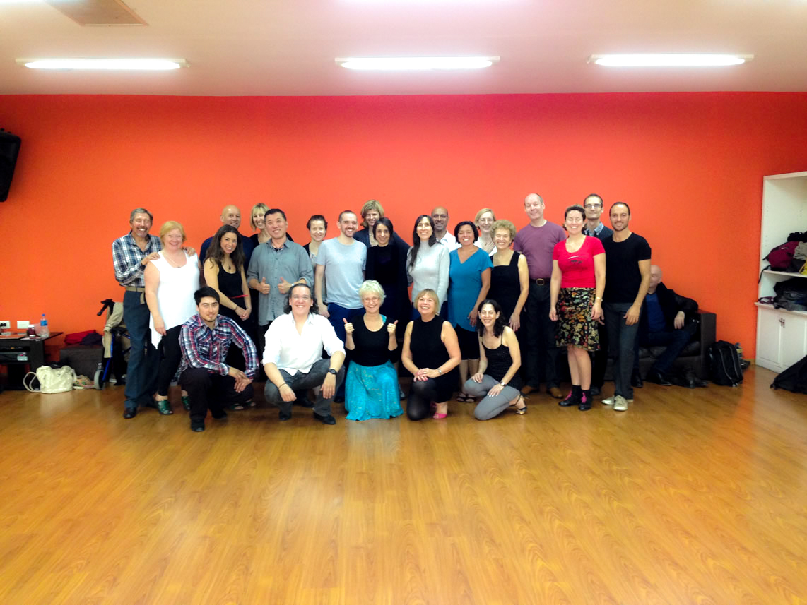 Group class with the amazing Lorena Ermocida and Pancho