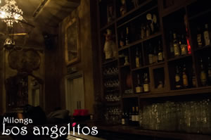 The well-stocked bar of our quirky venue