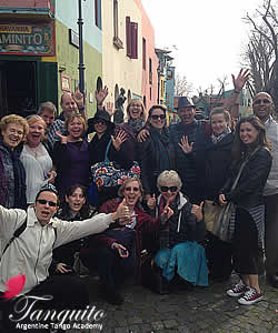 August - Our group at Caminito at la Boca