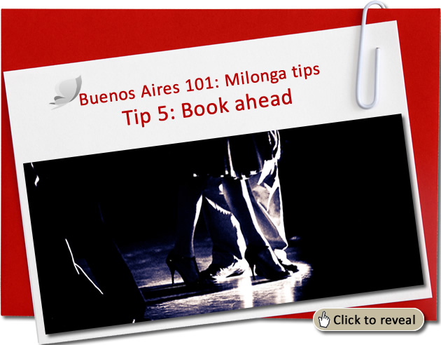 Survival tip No 5: Book ahead