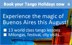 Book your Tango Holidays to Buenos Aires